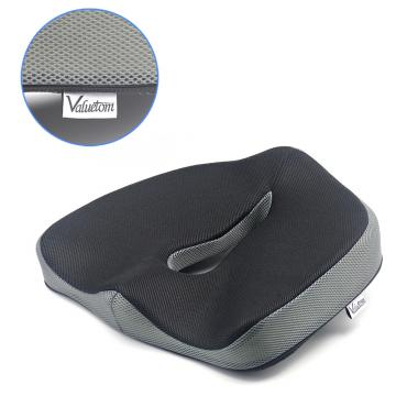 Valuetom Memory Foam Chair Pads Coccyx Low Back Pain Seat Cushion for Car,Office,Outdoor and Travel (Gray)