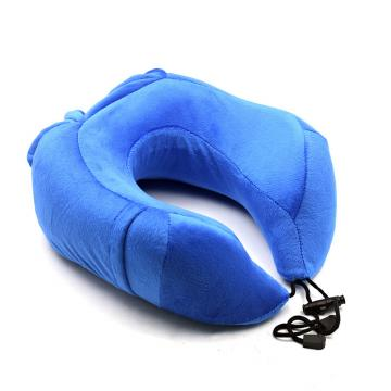 Valuetom Memory Foam Travel Neck Pillow Cervical Support for Car,Office,Outdoor and Travel (Blue)