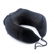 Valuetom Memory Foam Travel Neck Pillow Cervical Support for Car,Office,Outdoor and Travel (Black)