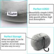 Valuetom Memory Foam Travel Neck Pillow Cervical Support for Car,Office,Outdoor and Travel (Gray)